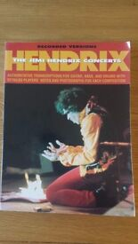 Jimi Hendrix - The Concerts, Guitar, Bass and Drum tab book