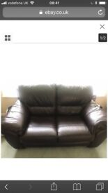 Divano 3 seater and 2 seater leather sofa