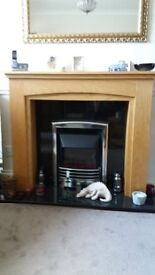 Fire surround inc Black marble back and electric fire. ALL AS NEW.