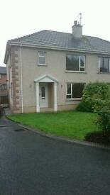 3 bed semi-detached house in residential cul-de-sac Hospital road, omagh