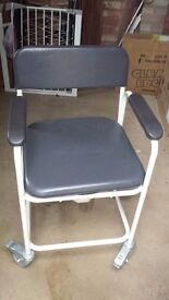 For sale. Sidhil Heavy duty wheeled commode/shower chair