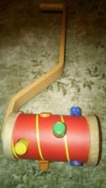 Wooden push along stick