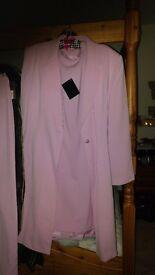 tea rose pink ladies suit