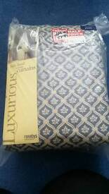 Brand new fully lined woven curtains 90x90