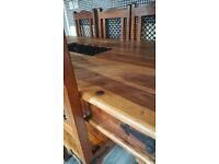 Indian Rosewood Table & 6 Chairs