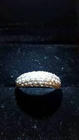 Swarovski maeva rhodium ring