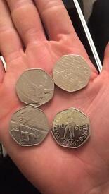 Commemorative 50 p coins