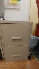 Filling cabinet with new folders inside