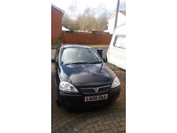 Black Vauxhall Corsa 2006(06) 1.0 Life 5dr, good runner, no damage, good condition. 71500 miles