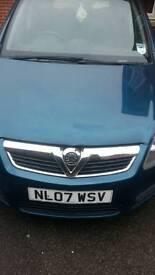 Vauxhal zafira petrol manual 2007 61334 miles