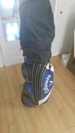 Golf clubs inc. Bag, trolley, driver & recovery club