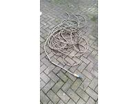 Quality 30m Length of Hozelock Hose Grey/Yellow stripe