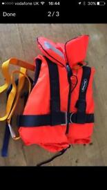 Toddlers life jacket. Baltic with tether strap.