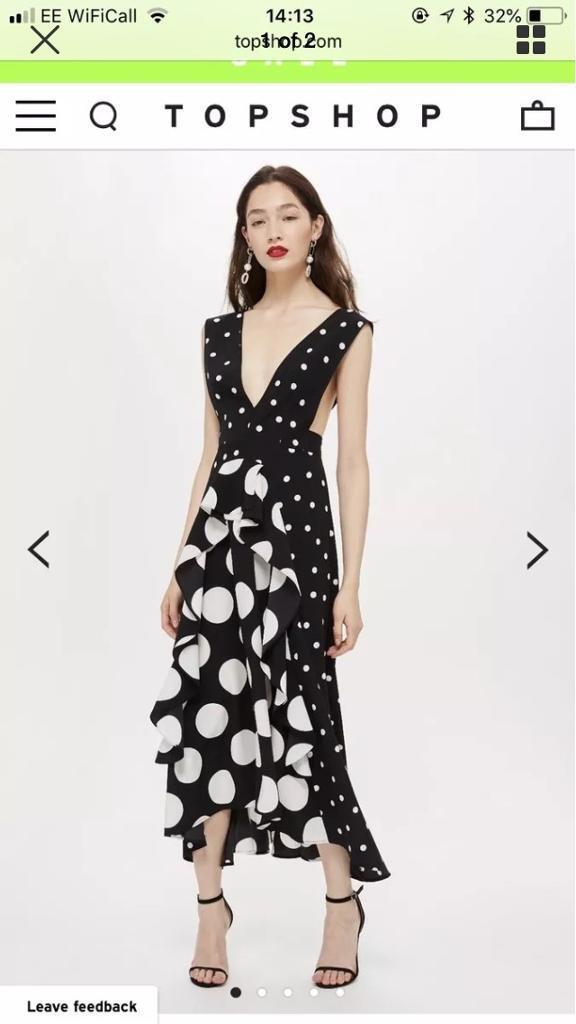 2dffe2f9673 Topshop Polka Dot Midi-Dress