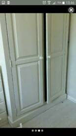 White Solid pine wood wardrobe