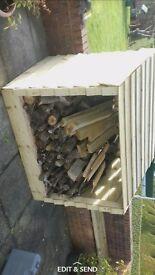Handmade Summerseat/log storage/benches