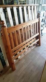 Solid wood double bedframe
