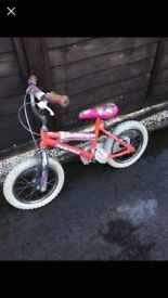 Girls small bike