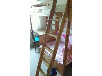 Kids Highsleeper Bunk with Desk (Mattress Included)