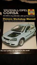 Haynes Manual - Vauxhall Corsa (2000 - 2006)