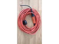 Lawnmower/garden power tool lead + connector