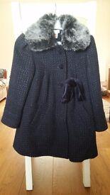 Girls Monsoon Smart Winter Coat age 6-8 years