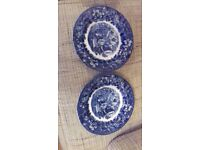 Wedgwood Ferrara 7in plates blue ship pattern