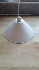 Vintage pendant cream light fitting