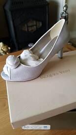 jaques vert peep toe shoes