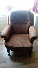 Dusky Pink patterned Armchair