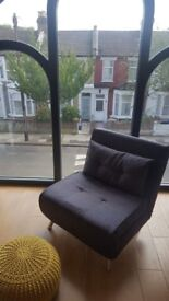 Haru single sofa bed - cygnet grey (collect from stoke newington after 15th August)