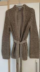 Warehouse size 6-8 thick chunky belted cardigan