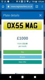 PRIVATE REGISTRATION (MAG) VALUED AT £1000