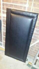 Small double bed Soft Headboard, Black.