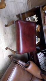 Chesterfield red stool