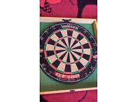 dart board + darts