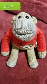 Christmas PG Tips monkey plush beanie toy