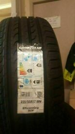 4x BRAND NEW 235 55 17 GOODYEAR ULTRAGRIPS M+S WINTER SUV TYRES COST £600 ACCEPT £300 FITD & BAL