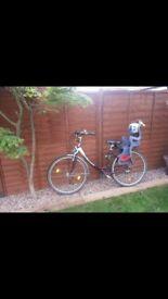 Ladies bike and child seat