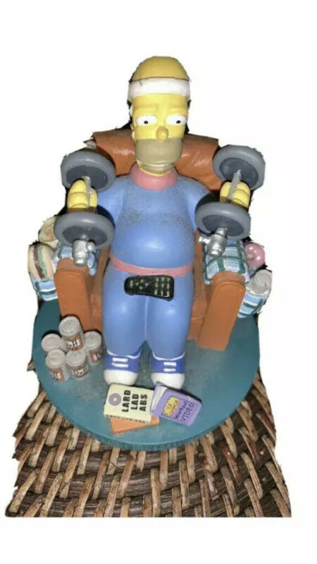 2003 Simpsons Misadventures of Homer Sculpture Collection MR. FITNESS