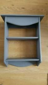 Wooden shabby chic grey shelf