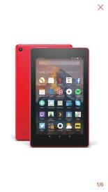 """AMAZON PUNCH RED 7"""" FIRE TABLET 8GB AS NEW"""