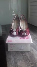Pink by Paradox Moon Satin Shoes size EU 39 UK 6.
