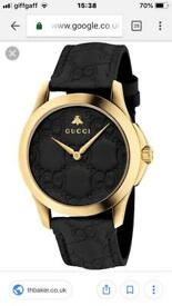 LADIES GUCCI GOLD PLANTED WATCH