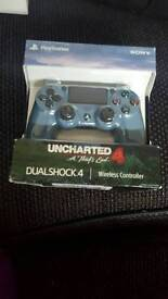 PS4 wireless controller. DUALSHOCK 4. Limited Edition Uncharted 4