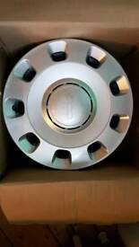 Fiat 500 standard wheel trims x4 - good as new