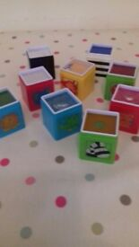 Early Learning Centre Jungle Wonder Activity Cubes Building Blocks 6 months - 2 years