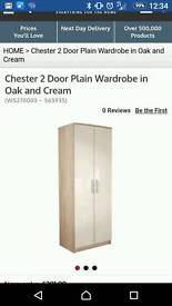 Chester cream and oak wardrobe