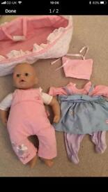 Baby Annabelle including clothes and accessories