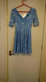 Blue new look skater dress size 10